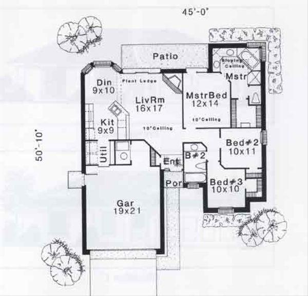 Traditional Floor Plan - Main Floor Plan #310-890