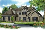 European Style House Plan - 4 Beds 4 Baths 4871 Sq/Ft Plan #81-1331 Exterior - Front Elevation
