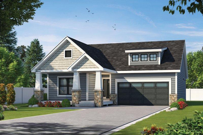Dream House Plan - Craftsman Exterior - Front Elevation Plan #20-2470