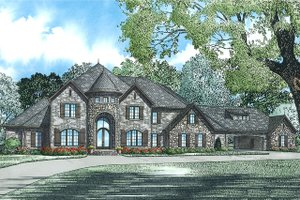 European Exterior - Front Elevation Plan #17-2530