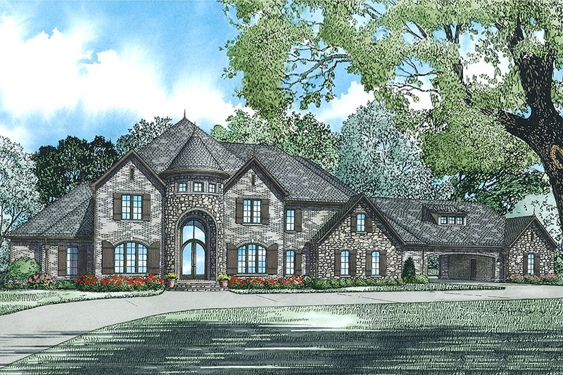 Dream House Plan - European Exterior - Front Elevation Plan #17-2530