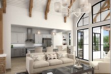 Architectural House Design - Craftsman Interior - Family Room Plan #54-388