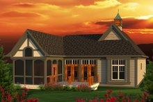 Home Plan - European Exterior - Rear Elevation Plan #70-1161