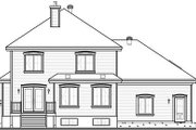 Traditional Style House Plan - 3 Beds 2.5 Baths 2090 Sq/Ft Plan #23-809 Exterior - Rear Elevation