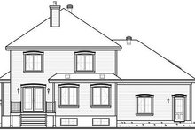 Dream House Plan - Traditional Exterior - Rear Elevation Plan #23-809