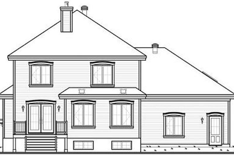 Traditional Exterior - Rear Elevation Plan #23-809 - Houseplans.com