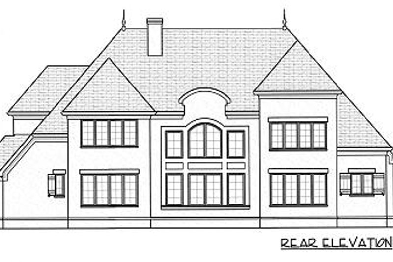 European Exterior - Rear Elevation Plan #413-149 - Houseplans.com