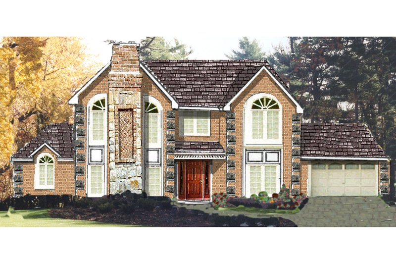 Home Plan - Traditional Exterior - Front Elevation Plan #3-319