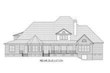 Country Exterior - Rear Elevation Plan #1054-73