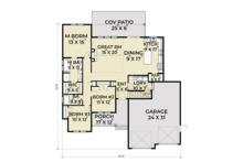 Farmhouse Floor Plan - Main Floor Plan Plan #1070-21