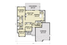 Farmhouse Floor Plan - Main Floor Plan Plan #1070-21