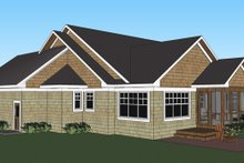 Craftsman Exterior - Rear Elevation Plan #51-510