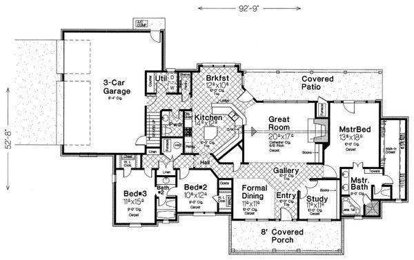 Farmhouse Floor Plan - Main Floor Plan #310-259