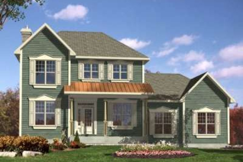 Traditional Style House Plan - 3 Beds 2.5 Baths 1945 Sq/Ft Plan #138-108 Exterior - Front Elevation