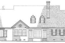 Southern Exterior - Rear Elevation Plan #137-231