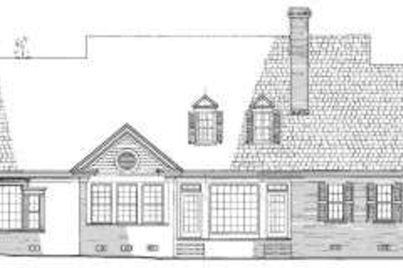 Southern Exterior - Rear Elevation Plan #137-231 - Houseplans.com