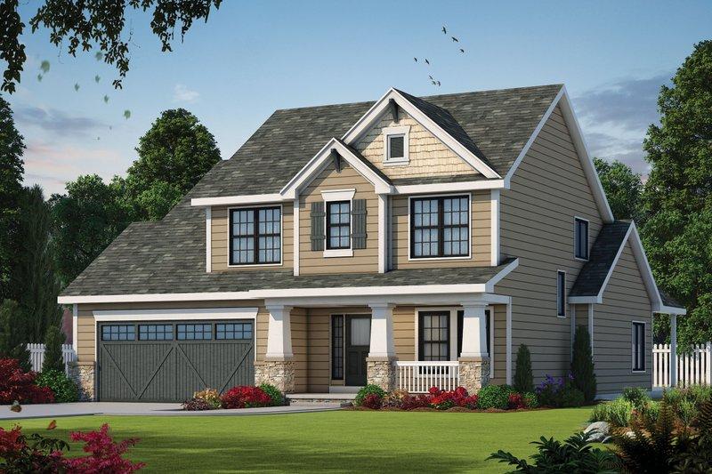 Dream House Plan - Craftsman Exterior - Front Elevation Plan #20-2154