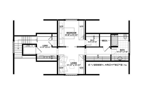 House Design - Country Floor Plan - Upper Floor Plan #928-1