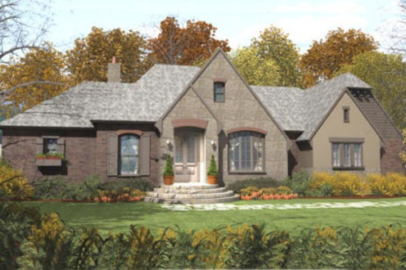 European Exterior - Front Elevation Plan #406-9610