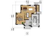 Contemporary Style House Plan - 4 Beds 2 Baths 2741 Sq/Ft Plan #25-4379 Floor Plan - Main Floor Plan