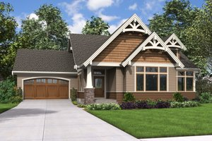 Craftsman Exterior - Front Elevation Plan #48-708