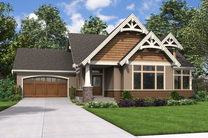Craftsman Style House Plan - 4 Beds 2.5 Baths 2682 Sq/Ft Plan #48-708