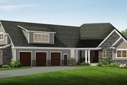 Craftsman Style House Plan - 3 Beds 3.5 Baths 4510 Sq/Ft Plan #1057-17