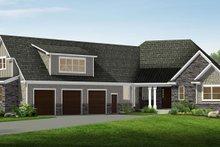 Dream House Plan - Craftsman Exterior - Front Elevation Plan #1057-17