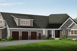 Home Plan - Craftsman Exterior - Front Elevation Plan #1057-17