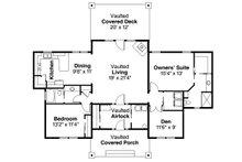Prairie Floor Plan - Main Floor Plan Plan #124-1006
