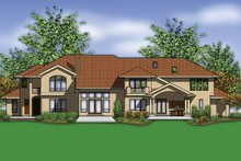 European Exterior - Rear Elevation Plan #48-962