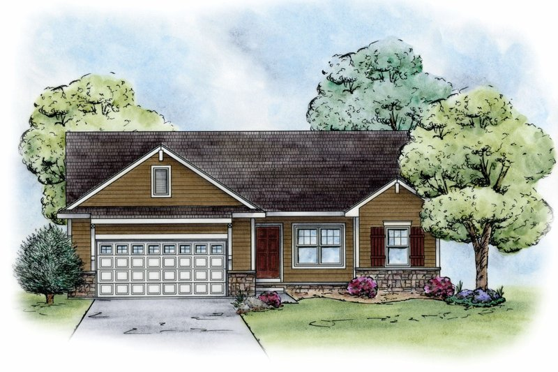 Craftsman Exterior - Front Elevation Plan #20-2182 - Houseplans.com