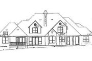 European Style House Plan - 5 Beds 5.5 Baths 4551 Sq/Ft Plan #52-167 Exterior - Rear Elevation