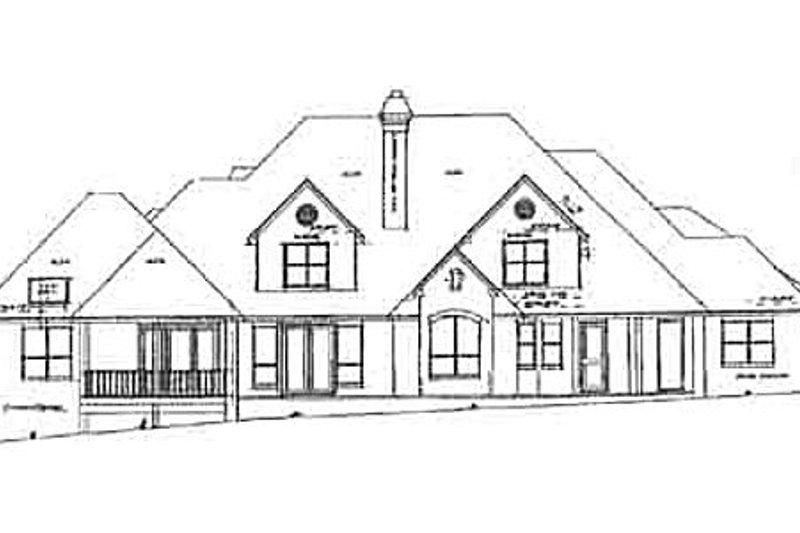 European Exterior - Rear Elevation Plan #52-167 - Houseplans.com