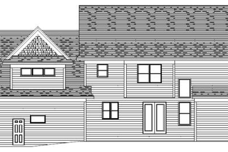 Traditional Exterior - Rear Elevation Plan #51-362 - Houseplans.com