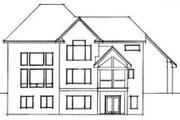 Country Style House Plan - 3 Beds 2.5 Baths 3253 Sq/Ft Plan #51-222 Exterior - Rear Elevation