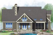 European Style House Plan - 3 Beds 2.5 Baths 2364 Sq/Ft Plan #929-1033 Exterior - Rear Elevation