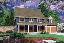 Dream House Plan - Country Exterior - Front Elevation Plan #48-170