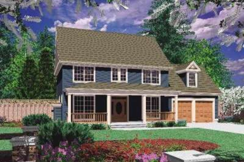 Home Plan - Country Exterior - Front Elevation Plan #48-170