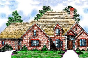 Architectural House Design - European Exterior - Front Elevation Plan #52-110