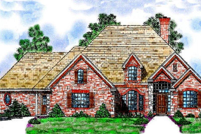 Dream House Plan - European Exterior - Front Elevation Plan #52-110