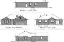 House Blueprint - European Exterior - Rear Elevation Plan #47-376