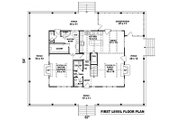 Country Style House Plan - 3 Beds 2.5 Baths 2207 Sq/Ft Plan #81-101 Floor Plan - Main Floor Plan