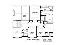 European Floor Plan - Upper Floor Plan Plan #320-499
