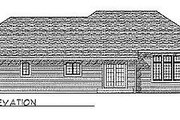 Traditional Style House Plan - 3 Beds 2.5 Baths 2042 Sq/Ft Plan #70-288 Exterior - Rear Elevation