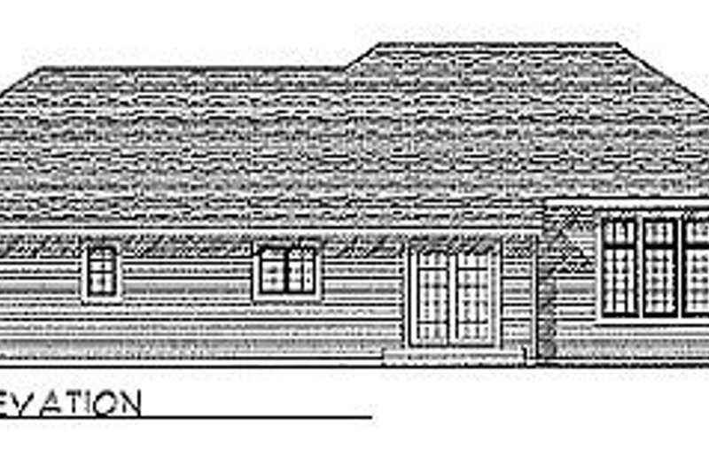 Traditional Exterior - Rear Elevation Plan #70-288 - Houseplans.com