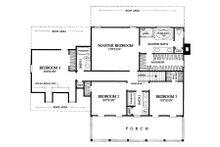 Colonial Floor Plan - Upper Floor Plan Plan #137-145