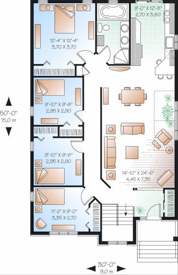 Traditional Floor Plan - Main Floor Plan Plan #23-797