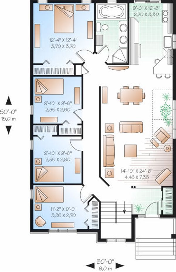 Dream House Plan - Traditional Floor Plan - Main Floor Plan #23-797