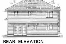 House Blueprint - Traditional Exterior - Rear Elevation Plan #18-229